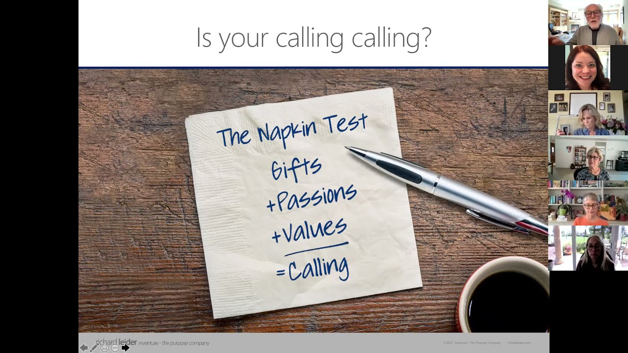 The Napkin Test: The Power of Purposeful Aging with Richard Leider - May 2021