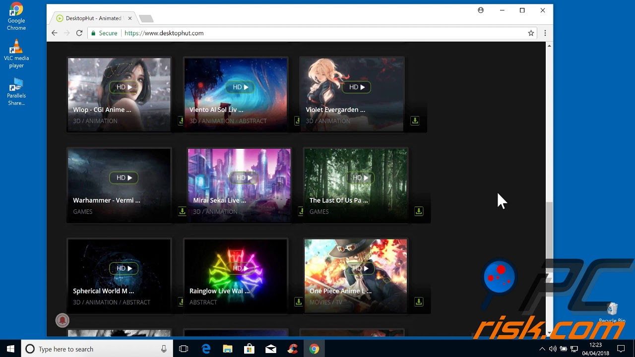 How to use live wallpapers with DesktopHut - YouTube