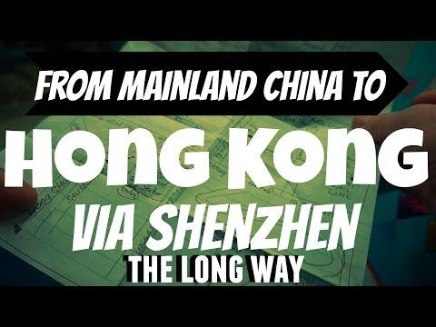 Shenzhen to Hong Kong   the Long Way in   Wheelee's Travels