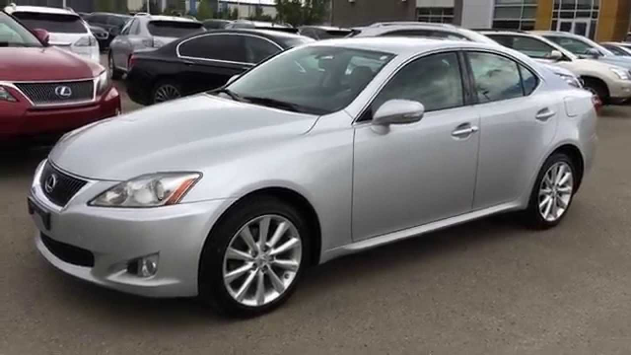 pre owned silver on light grey 2010 lexus is 250 awd leather with moonroof review morinville. Black Bedroom Furniture Sets. Home Design Ideas