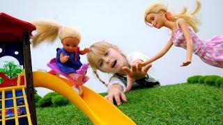 Игры с Барби - Штеффи на прогулке. Приключения Барби - Мультики для девочек