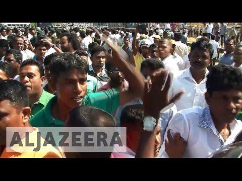 Protests in Sri Lanka over China port deal