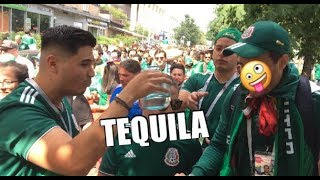 🇲🇽 Mexican Fans Neck Shots Of Tequila On The Streets Of Moscow Ahead Of Germany Clash