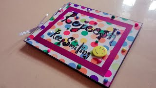 Mini Scrapbook with lots of colours, pictures and memories... For your loved ones