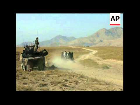 French Foreign Legion mortar Taliban positions  AP embed video