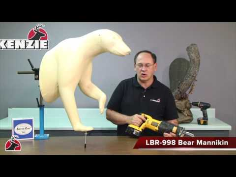 MV105  Finished Wall Habitat® For A Half Lifesize Bear HD