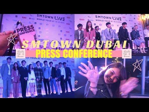 [SM타운 라이브 월드투어 식스 인 두바이] #SMTOWNLIVEINDUBAI Presscon 180705 | ITSJEMHERE