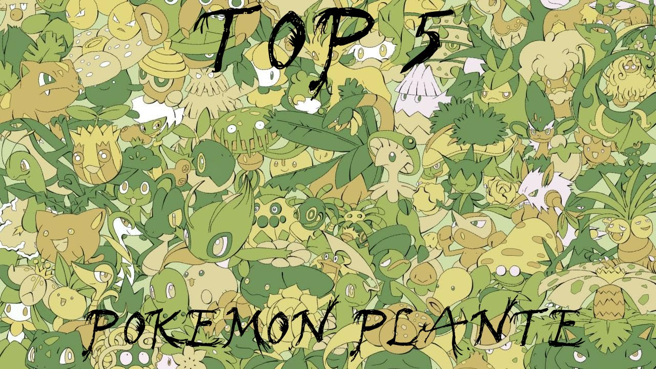 Baboulitop 22 top 5 des pok mon de type plante youtube for Type de plante