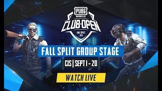 [RU] PMCO CIS Group Stage Day 1 | Fall Split | PUBG MOBILE CLUB OPEN 2020