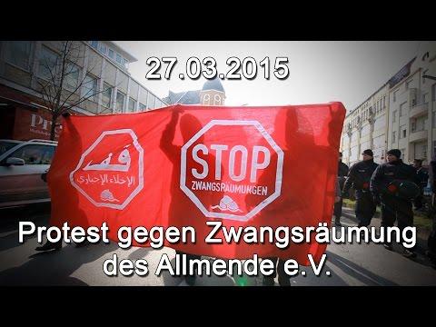 Demo gegen die Zwangsräumung von Allmende e.V. Berlin , 27.03.15