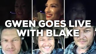 Gwen Stefani on Instagram Live with Blake Shelton