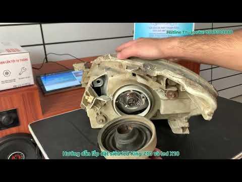 Thuận râu - hướng dẫn lắp đặt bóng đèn siêu led King Z10 và led X10 cho xe máy ô tô chân H4