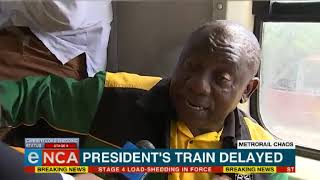Ramaphosa stuck on a Metrorail train
