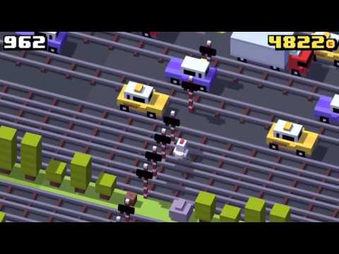 Crossy Road World Record 1,500+ Points!! Highest Score Ever!!!