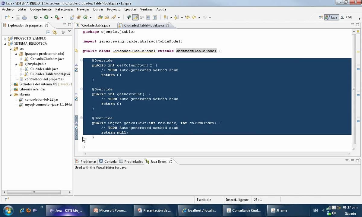 Tutorial java consulta de registros simple con jtable 1 2 for Consul tutorial