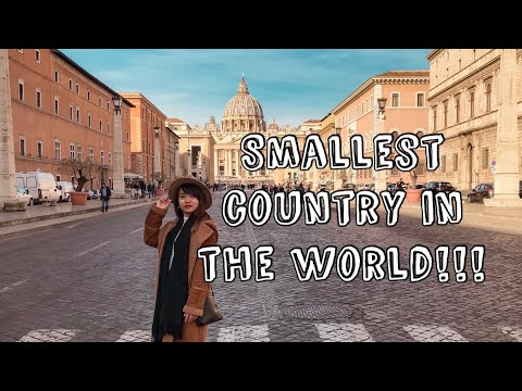 VATICAN CITY   Smallest country in the WORLD  Rome Travel Vlog