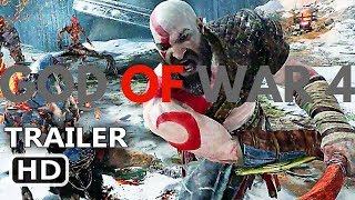 GOD OF WAR 4 PS4 STORY TRAILER HD (2018) NEW UPCOMING OFFICIAL