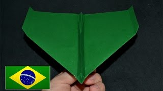 Origami: Avião de Competição - Instruções em português PT BR