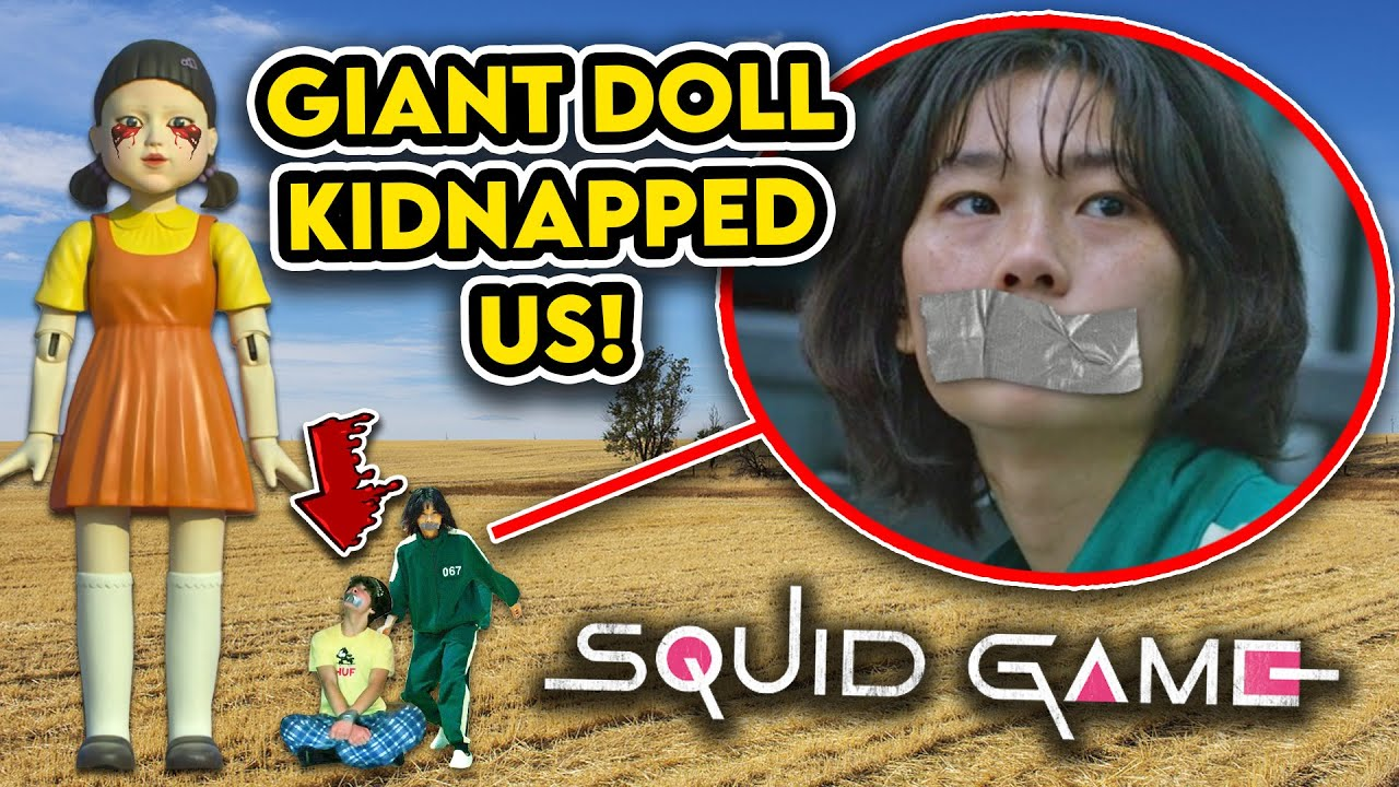 HOYEON JUNG AND I GOT KIDNAPPED BY GIANT SQUID GAME DOLL!!! (PLEASE HELP US)