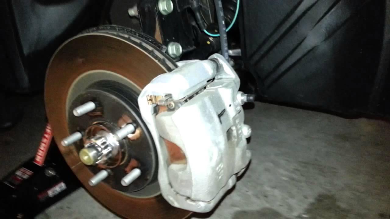 2014 Nissan Juke SUV - Checking Front Brake Pads - Caliper ...