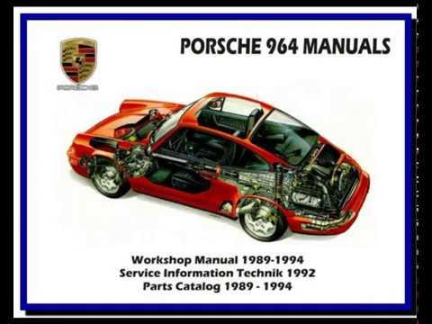 porsche 964 19891994  service manual  wiring diagram  parts manual