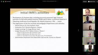 Prof  Ephraim Eliav : IWRI - Perspectives on Integral World Exploration