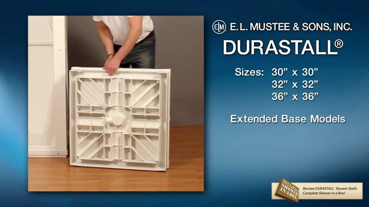 The DURASTALL® Shower Stall with Standard Base - Full Video - YouTube