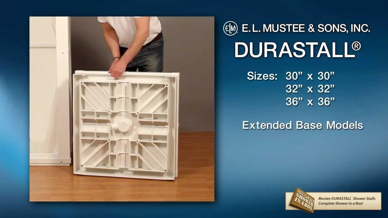 Durastall shower extended base