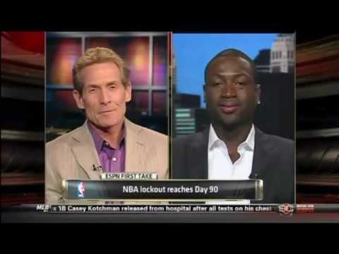 September 28, 2011 - ESPN - First Take Skip Bayless Interviews Dwyane Wade