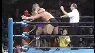 1991.12.12 SWS&WWF Million Dollar Man VS Texas tornado