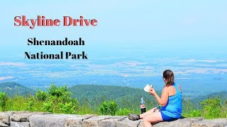 Driving down the Skyline Drive in the Shenandoah National Park.