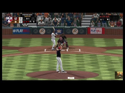 MLB The Show 19 Nationals Vs Astros Game 1 World Series LIVE STREAM