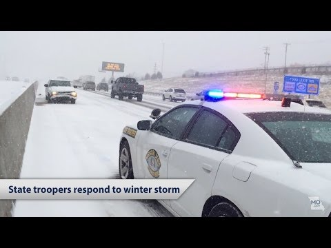 Missouri State Highway Patrol responds to winter storm