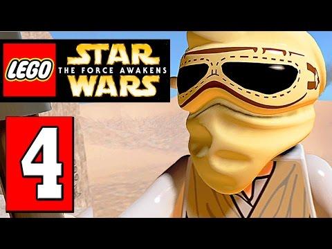 LEGO Star Wars The Force Awakens Walthrough Part 4 JAKKU GRAVEYARD
