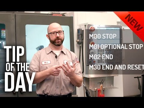 How to Stop Your Program With an M-Code – Haas Automation Tip of the Day