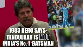 1983 Hero Says Tendulkar Is Not India's No.1 Batsman