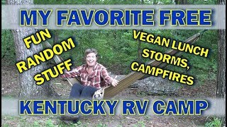 RV Life: Free Camṗing in Daniel Boone National Forest Kentucky//thunder Storms and Vegan Lunch