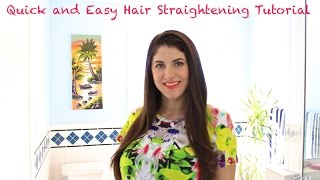 Quick and Easy Hair Straightening TUTORIAL Thumbnail