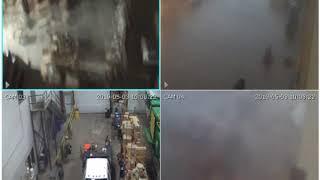 Security camera 1-4 footage of the EF-2 tornado