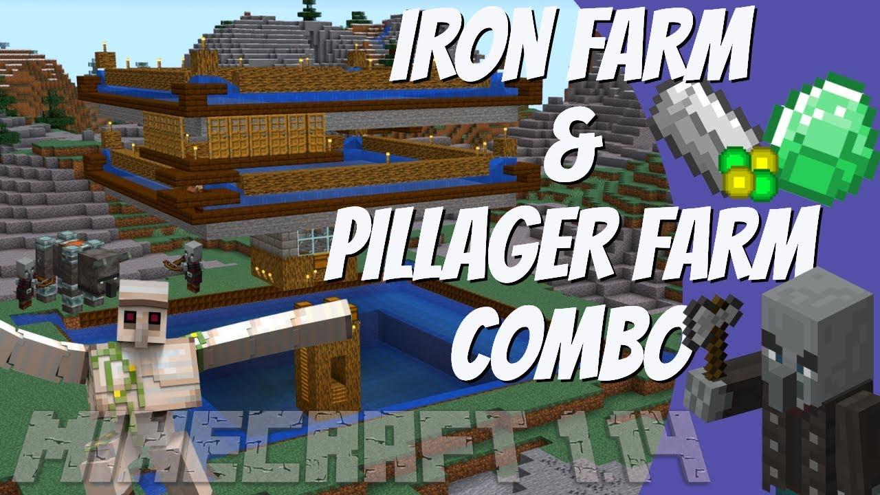 minecraft 1.14 iron farm tango tek