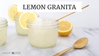Lemonade Granita | Quick, Healthy Gluten-Free & Dairy-Free Recipe | Limoneira