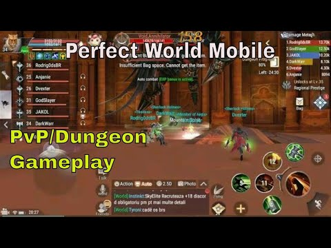 Perfect World Mobile PvP & Dungeon Gameplay
