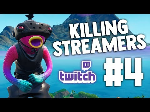 Killing Twitch Streamers #4 - Fortnite Battle Royale (with Reactions)
