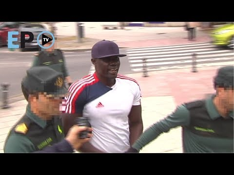 """Ibrahima, a su llegada a la Audiencia de Lugo: """"Estoy indignado con la Policía"""""""