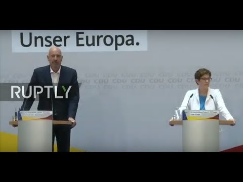 LIVE: Germany's Christian Democratic Union comment on EU elections results