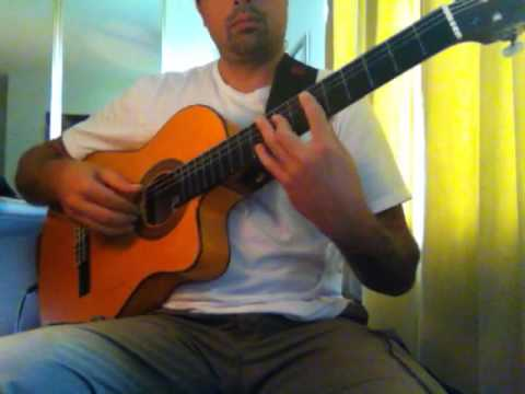 "Iron Maiden ""Aces High"" (acoustic) Ben Woods on Flamenco Guitar"