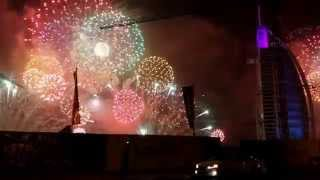 BURJ AL ARAB Fireworks Display NYE 2015 (part 2)