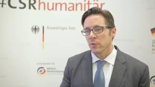 #CSRhumanitär | Matthias Fifka beim Dialogforum in Frankfurt