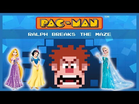 PAC MAN Ralph Breaks The Maze - Пакман и принцессы Диснея на IOS и Андроид