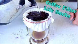 8 Coffee Filter Life Hacks